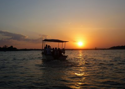 Sunset boat safari on Rufiji River