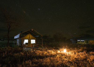 Serengeti View Camp at night
