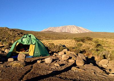 camping site at Kilimanjaro