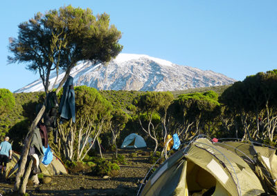 Camp site with Kibo view