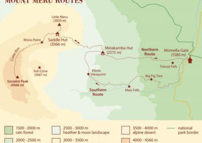 Mt. Meru Routes